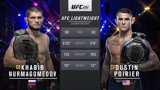 UFC 242 : Khabib Nurmagomedov Vs Dustin Poirier (Full Fight) HD