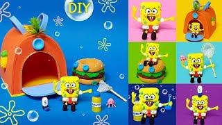 DIY Miniature 6 SpongeBob SquarePants set !