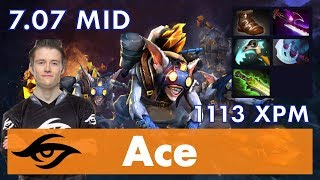 Ace Meepo MID   Silver Edge Rush   7.07 Update Patch Dota 2 Gameplay Pro MMR