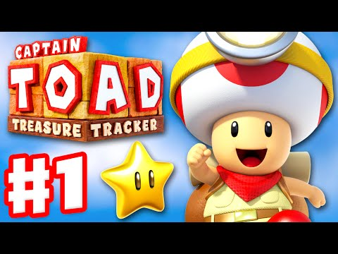 Captain Toad: Treasure Tracker - Gameplay Walkthrough Part 1 - The Secret Is in the Stars 100%
