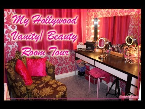 Hollywood Vanity/ Beauty, Makeup room tour - YouTube