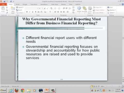 Government & Non-Profit Accounting:  Accounting for Government & Non-Profit Entities