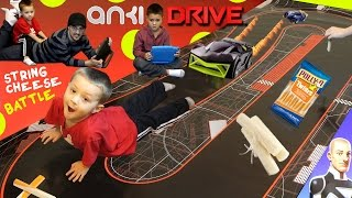 Anki Drive Family Race Battle! Attack of the String Cheese?!?! (Starter Kit Gameplay Review Fun)