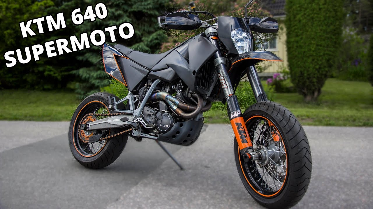 ktm lc4 640 supermoto test ride motovlog youtube. Black Bedroom Furniture Sets. Home Design Ideas