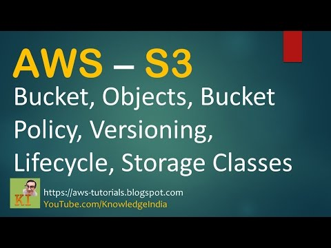 AWS S3 - Bucket, Objects, Versioning, Bucket Policy, LifeCycle, Storage Classes