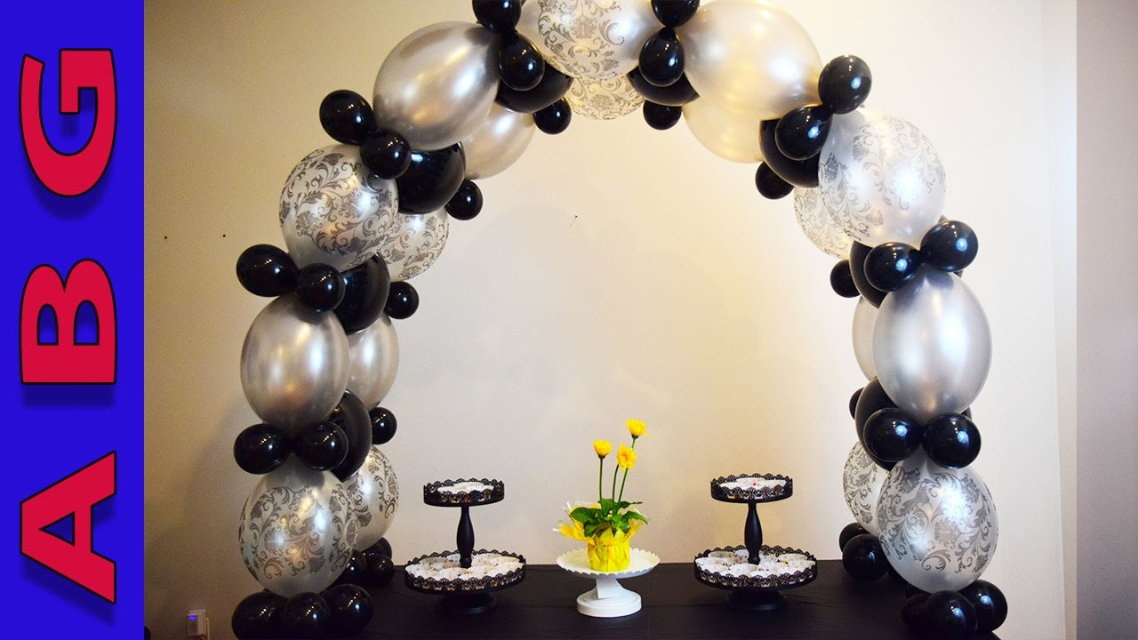 Large balloon arch tutorial no helium without stand great for Balloon arch no helium