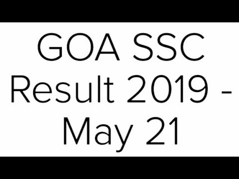 GOA SSC Result 2019, GOA Board 10th Result 2019 @gbshse.gov.in