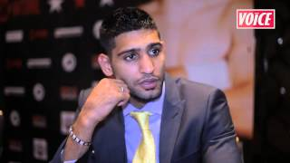 Gambar cover The Voice Newspaper caught up with Amir Khan ahead of his fight against Carlos Molina