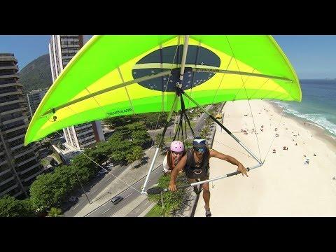 Vuelo - Show de ¨Buela¨ - ala delta en Rio de janeiro - Brazil