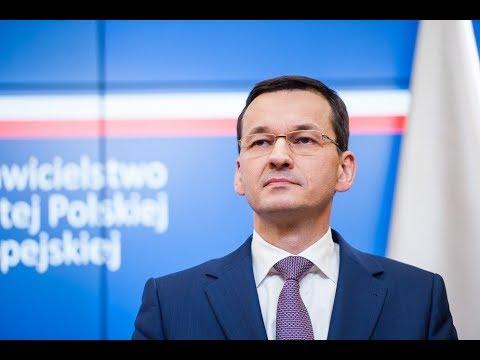 Mateusz Morawiecki podczas konferencji po nieformalnym spotkaniu szefów państw i rządów UE