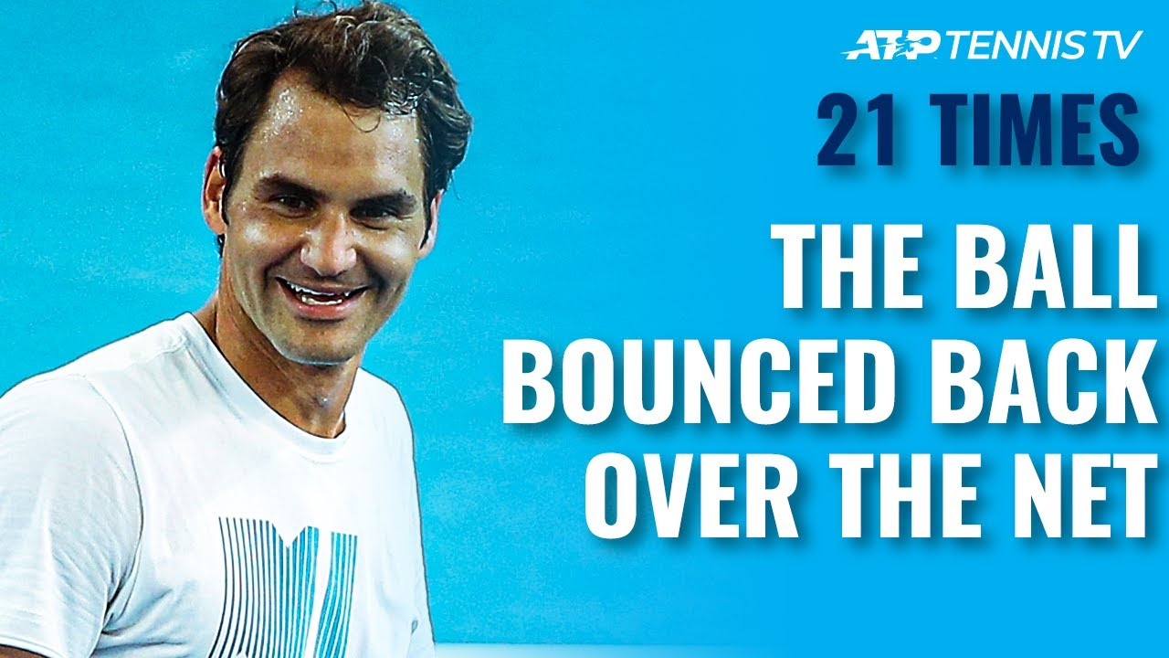 21 UNIQUE Tennis Shots That Bounced Back Over The Net!
