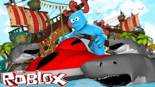 Roblox - SHARK HUNT WITH SHARKY OBBE!!