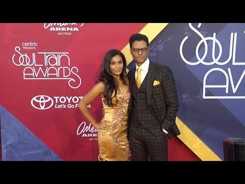 Eric Benet & Manuela Testolini 2016 Soul Train Awards Red Carpet