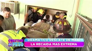 Rescate del campeón: Maxi Oliva engordó, pesa 400 kilos y se hizo un operativo para salvarlo