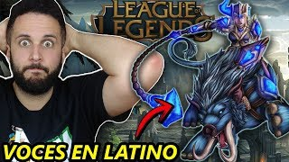 Español REACCIONA a LAS VOCES en LATINO del LEAGUE OF LEGENDS *POR PRIMERA VEZ*