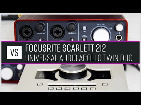 Universal Audio Apollo Twin Duo vs Focusrite Scarlett 2i2