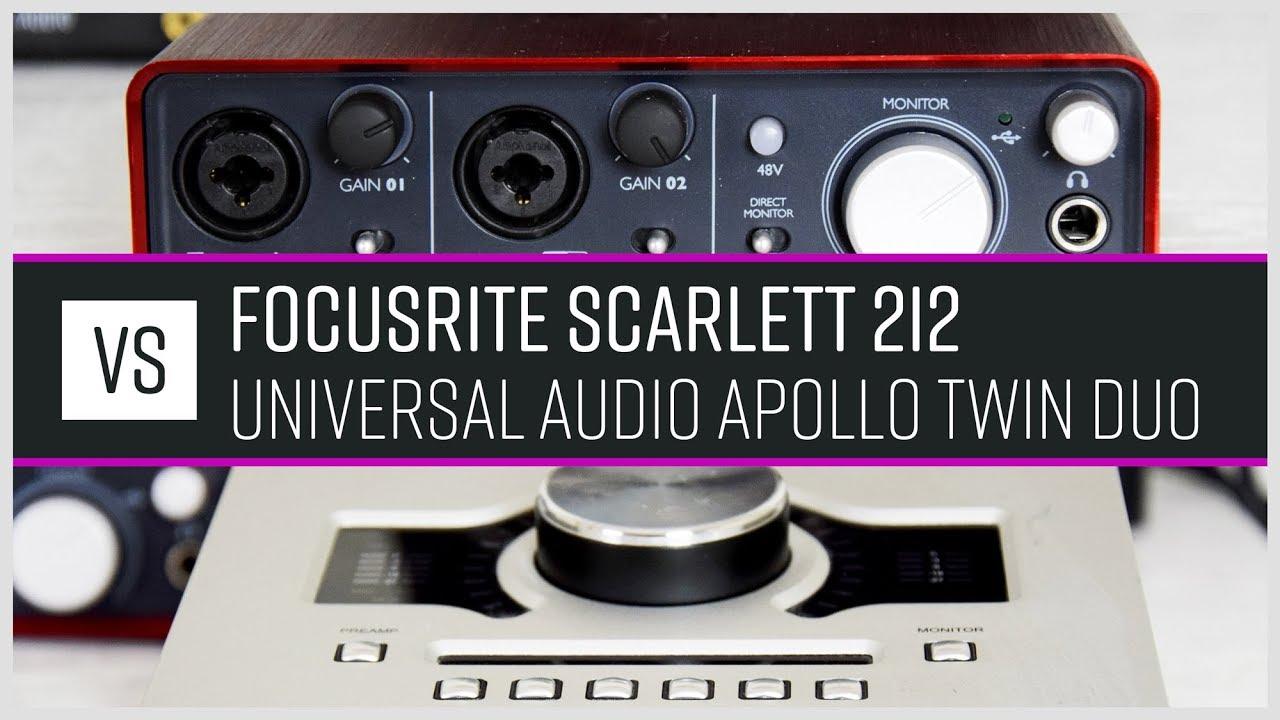 Universal Audio Apollo Twin Duo vs Focusrite Scarlett 2i2