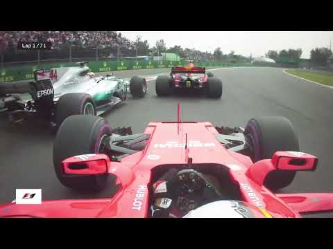 Vettel Onboard Angry Radio 2017 Mexico F1 Grand Prix Race Start