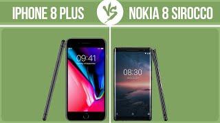 Apple iPhone 8 Plus vs Nokia 8 Sirocco ✔️