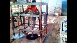 Homemade Dual Blades Sawmill
