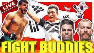 🔴UFC FIGHT NIGHT 139 KOREAN ZOMBIE VS YAIR RODRIGUEZ / COWBOY CERONE VS MIKE PERRY LIVE REACTION!