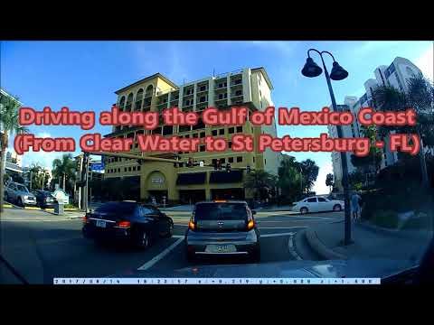 Driving along the Gulf of Mexico coast (From Clear Water to St Petersburg - FL)