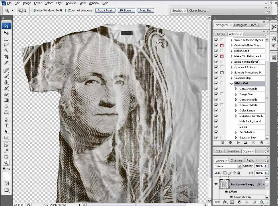 Photoshop t shirt tutorial create an off the wall all for T shirt printing photoshop