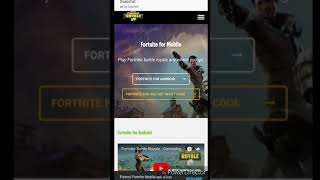 How to download Fortnite for mobile apk