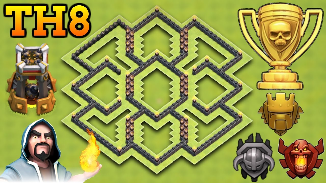 Coc Th 8 Hard Base 6