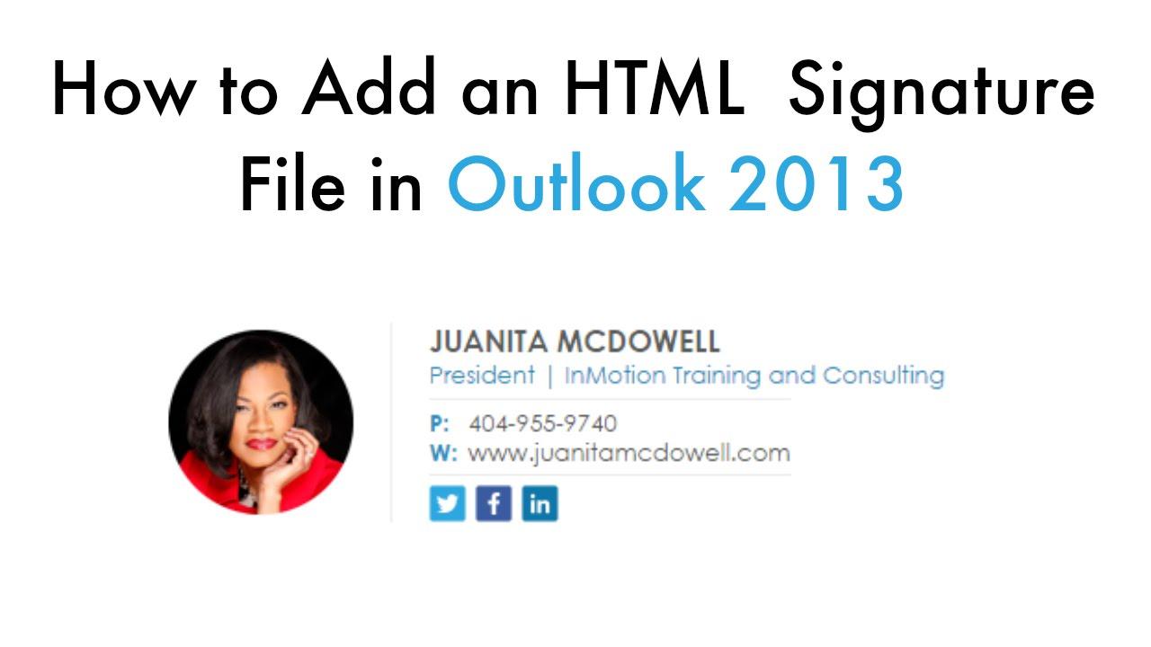email html signature