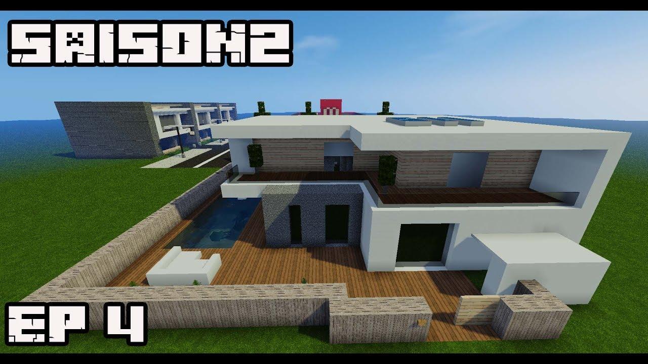 Ville minecraft s2 maison ultra moderne 4 youtube - Ville moderne minecraft ...