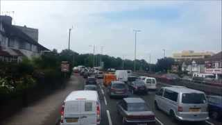 (HD) Route 112 Visual - Brent Cross to Ealing Broadway