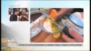 RECETTE : Tartines de chapon de mer mariné aux agrumes corses