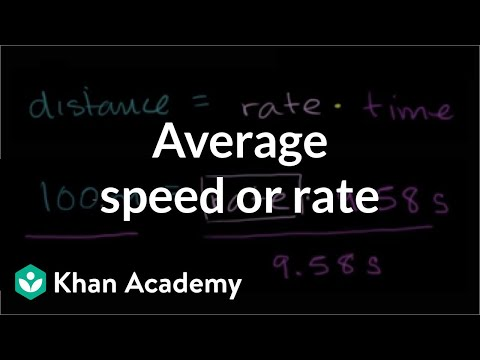Finding Average Speed Or Rate | Ratios, Proportions, Units, And Rates | Pre-Algebra | Khan Academy