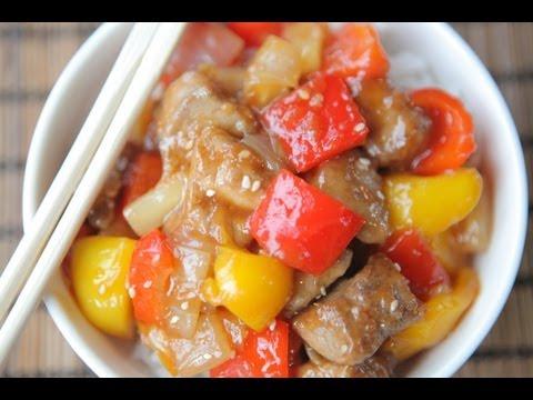 Свинина в кисло сладком соусе, как приготовить простой