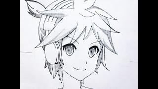 How to draw Len Kagamine