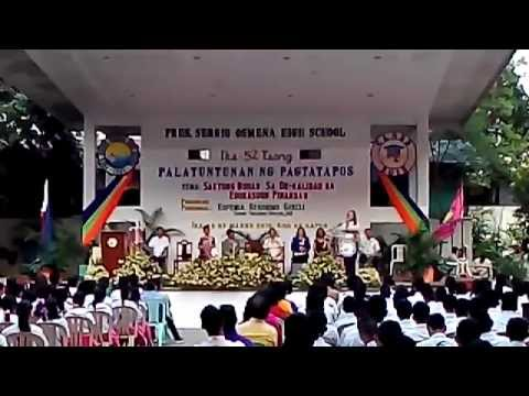 Emma Garcia's Commencement Address to the Osmena High School Graduating Class of 2015