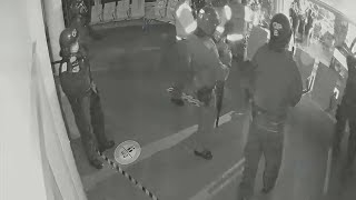 video: Watch: New CCTV footage shows inside Bristol police as Kill the Bill rioters attack