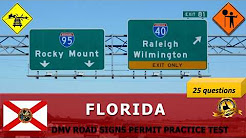 Florida DMV Road Signs Permit Practice Test (Hard) - FL DMV practice test