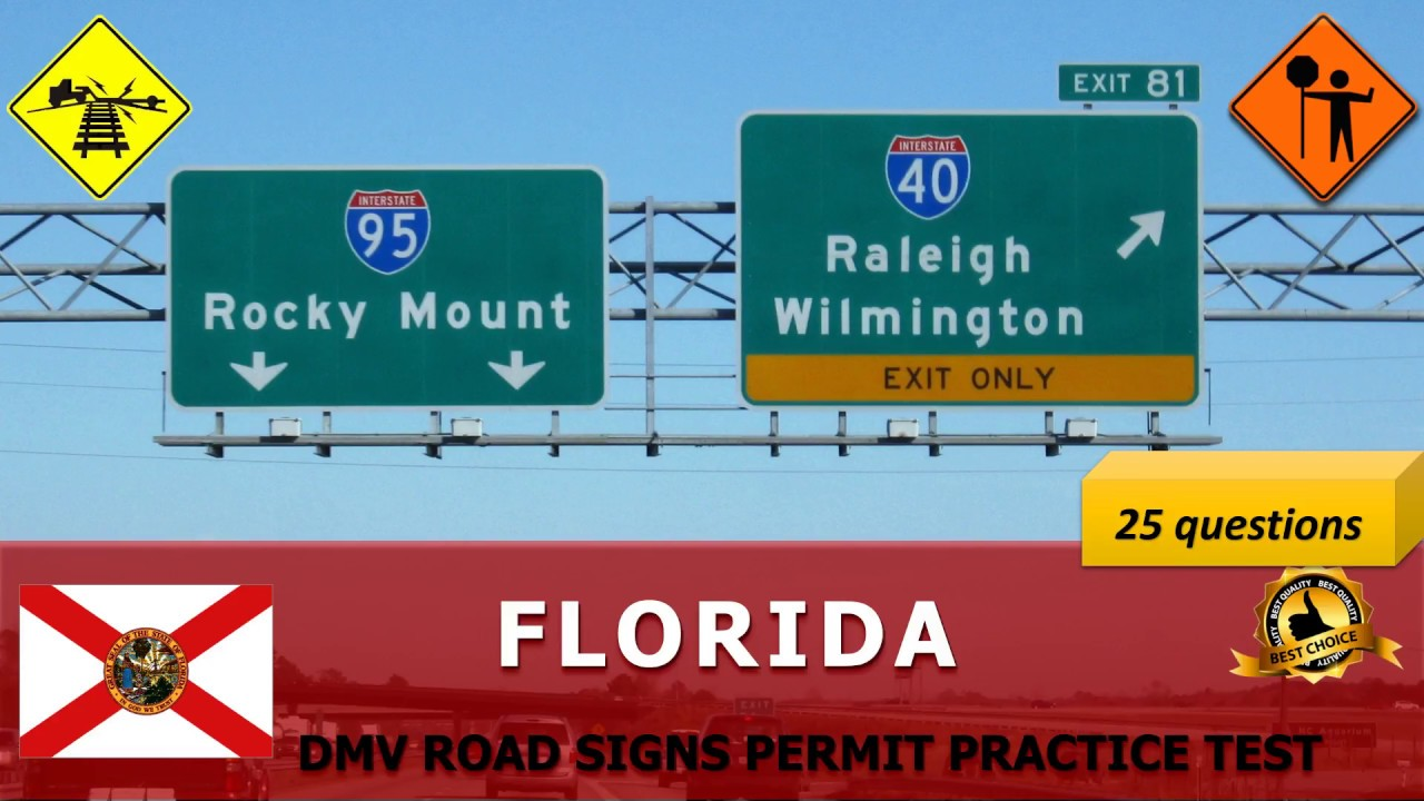 How Many Questions Are On The Permit Test >> Florida DMV Road Signs Permit Practice Test (Hard) - FL ...