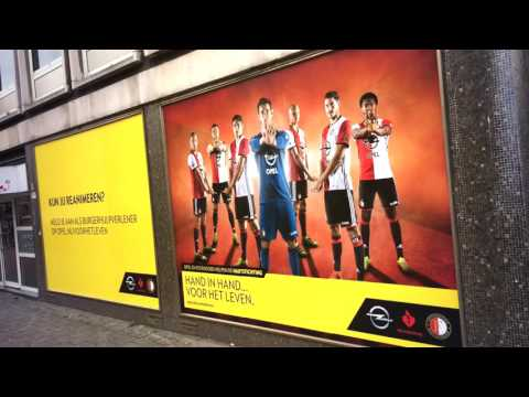 Dutch Moving Media: Window Advertising voor Opel in Rotterdam!
