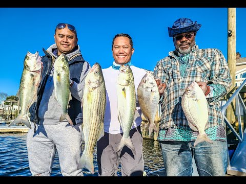 Fishing The Back Bays W. Capt Joey Leggio ( Incl. Some Cool Underwater Footage - Sept 19, 2020)