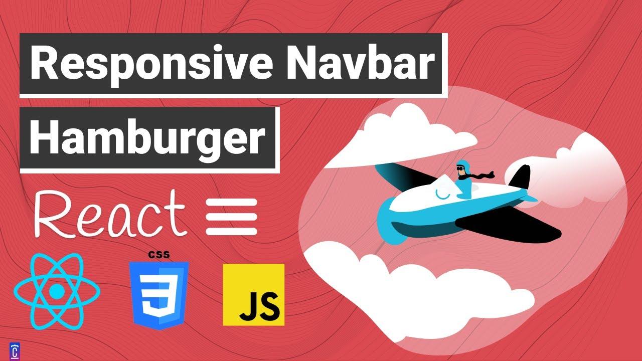 Build Responsive Navbar with Hamburger Menu with Animations | Beginner REACT.JS