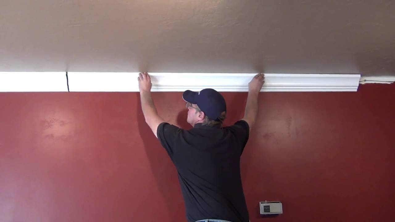 Crown Molding Wire and Cable Management - YouTube