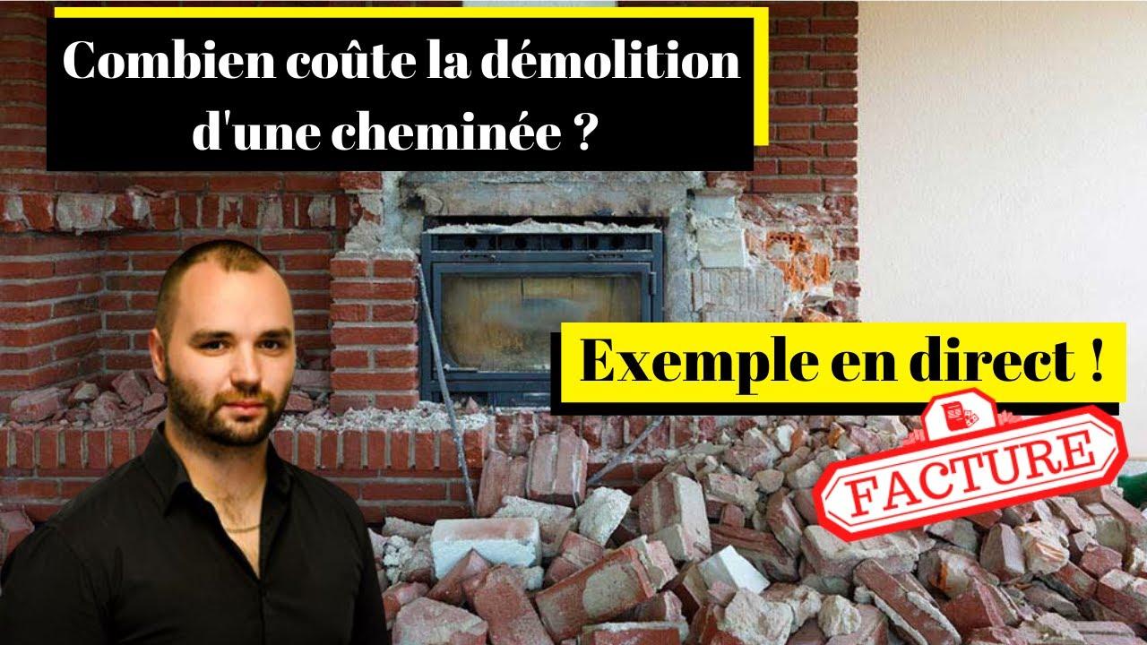 Combien coûte la démolition d'une cheminée ? [Exemples concrets]