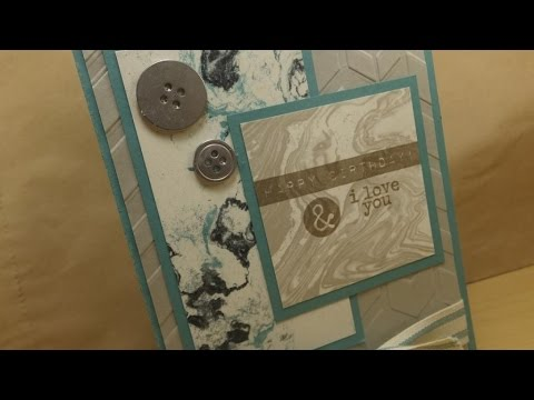 Making A Manly Birthday Card With Stampin Up Products Youtube