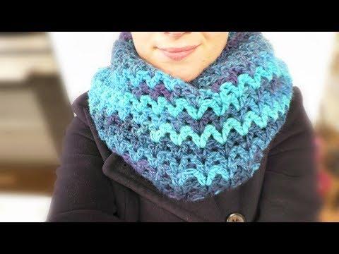 Download Schal häkeln - diagonal - moss stitch