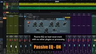 PreSonus Fat Channel Plug-in Demo: Passive EQ