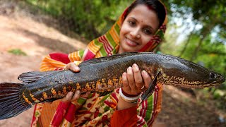 Mohashol Fish Kosha Curry Recipe Prepared by Limu for Grandmother in Village Style   villfood vlog