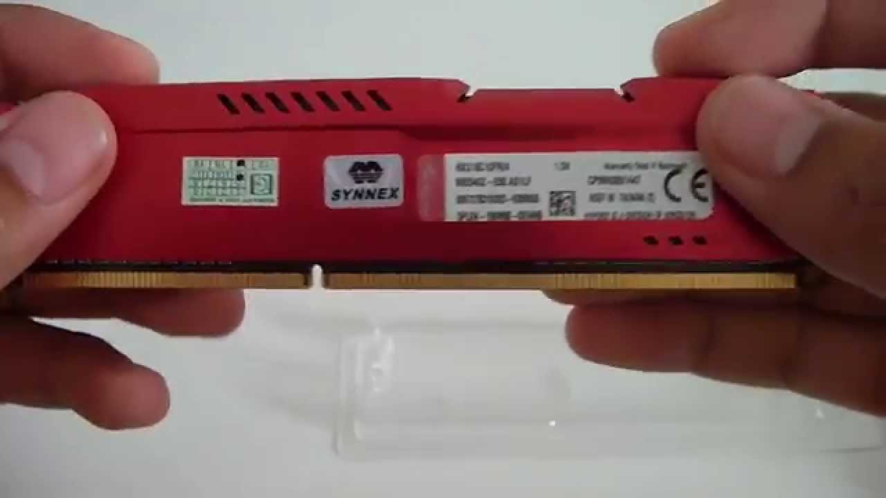 Hyperx Fury Series 8 Gb Ddr3 1600 Mhz Cl10 Dimm Memory Kingston Hx318c10fwk2 16 16gb Pc15000 White Heatspreader